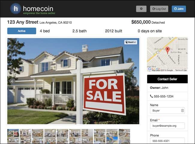 Free FSBO Listing Website Create A Homecoin Listing