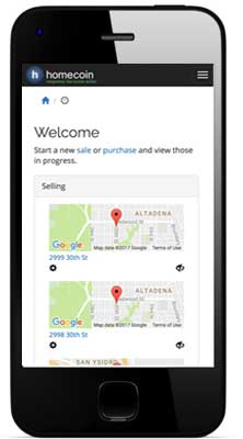 Screen shot of ordering an MLS listing using a smartphone.