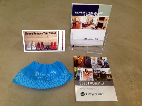 The open house kit includes booties.